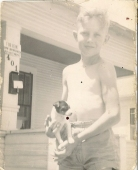 Jack with Spot at 401 Congress Avenue, Brownwood, Texas