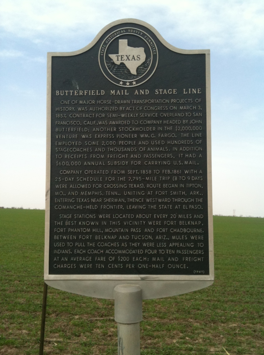 Butterfield route near Abilene